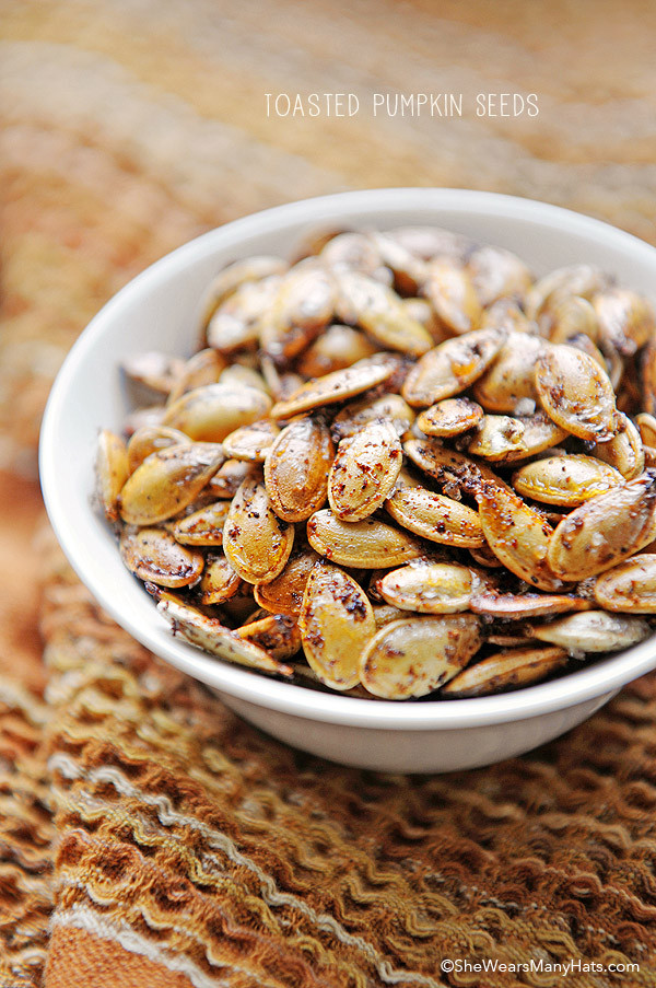Pumpkin Seeds Healthy  Spicy Toasted Pumpkin Seeds Recipe