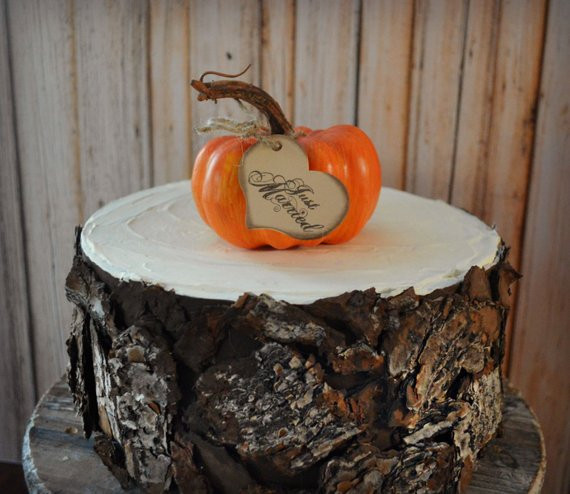 Pumpkin Wedding Cake Toppers  Fall wedding pumpkin gourd Thanksgiving wedding cake topper