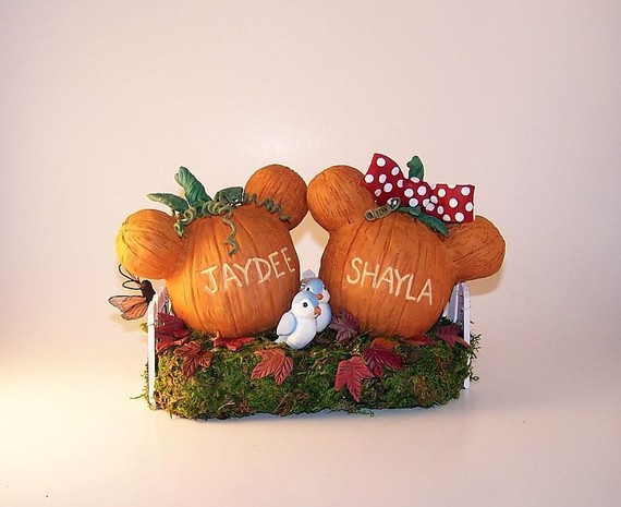 Pumpkin Wedding Cake Toppers  disney cake toppers