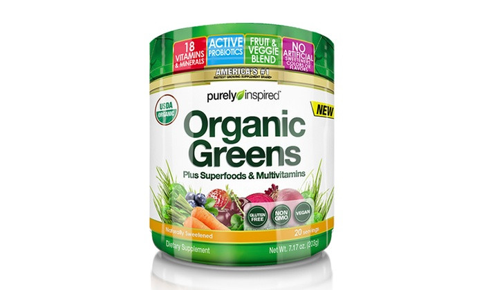 Purely Inspired Organic Greens  Organic Greens 20 Servings