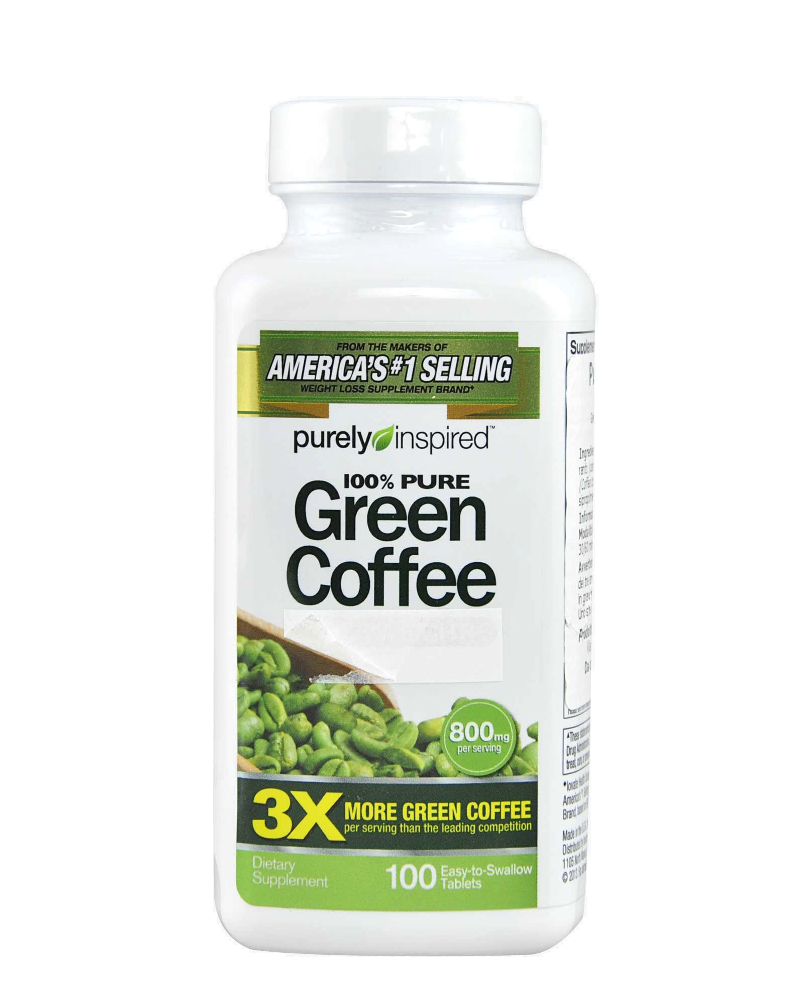 Purely Inspired Organic Greens  Pure Green Coffee by PURELY INSPIRED 100 tablets £