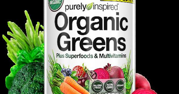 Purely Inspired Organic Greens  Organic Greens Plus Superfoods & Multivitamins