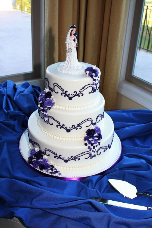 Purple And Blue Wedding Cakes  Blue and White wedding cakes and Yummy cakes on Pinterest