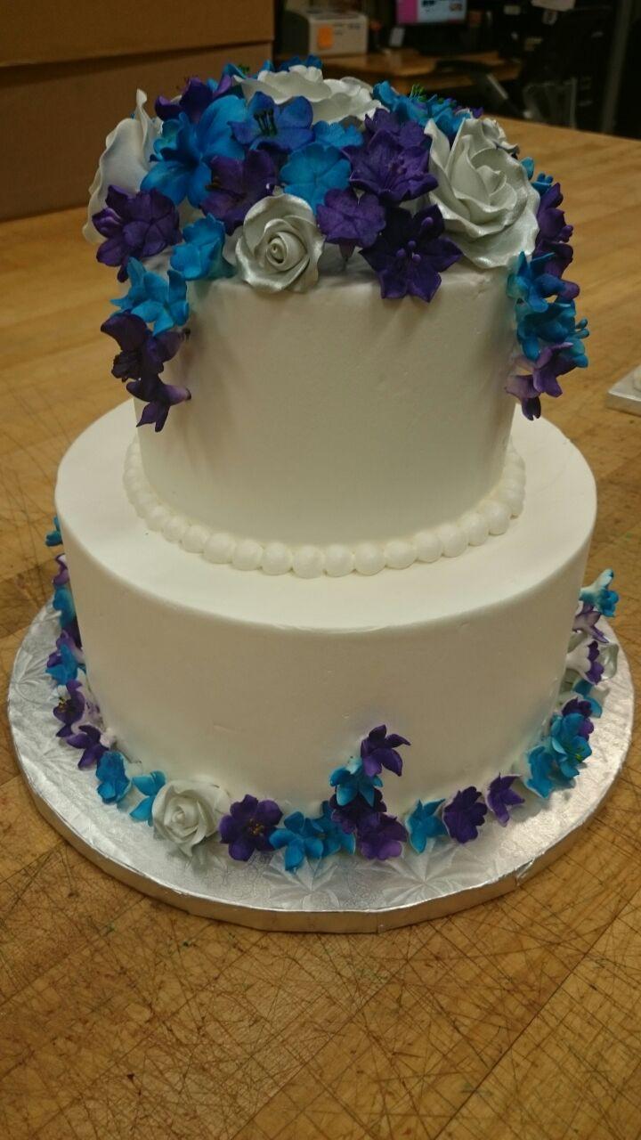 Purple And Blue Wedding Cakes  Wedding Cakes