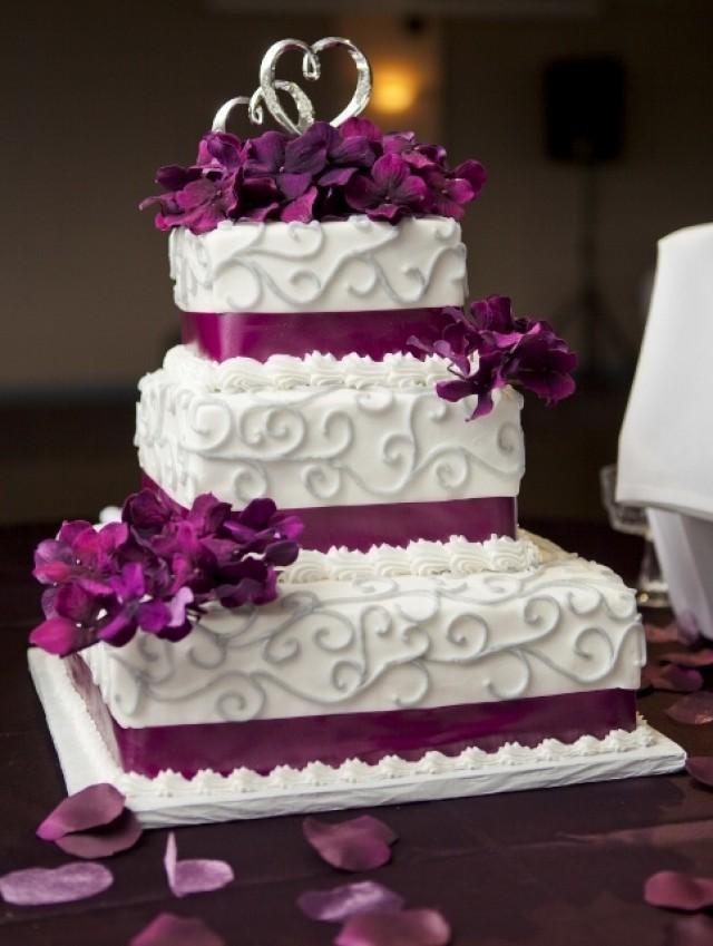Purple And Grey Wedding Cakes  Purple Wedding Purple And Grey Cake Weddbook