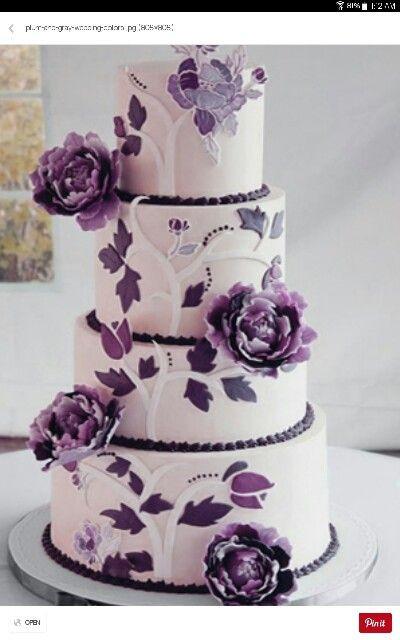 Purple And Grey Wedding Cakes  Purple & grey wedding cake