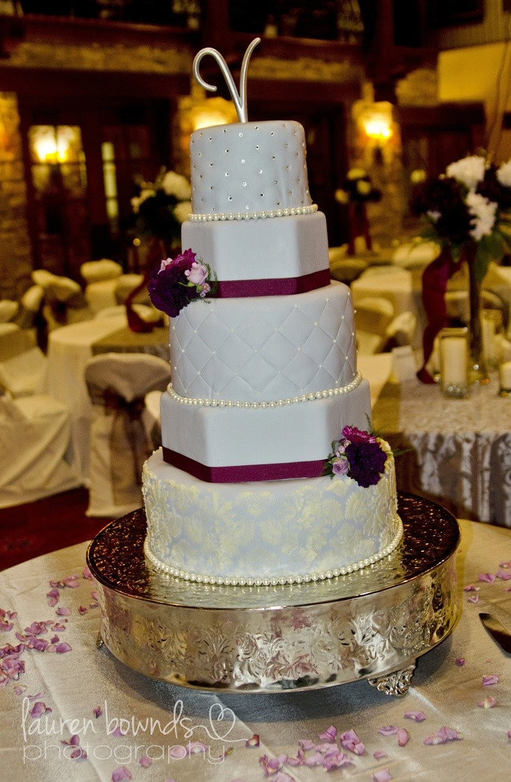 Purple And Grey Wedding Cakes  Purple and gray wedding cakes idea in 2017