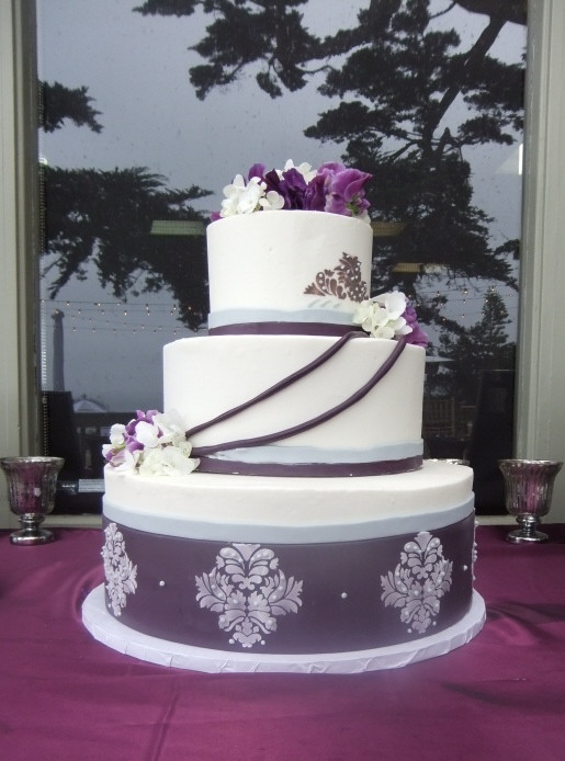 Purple And Grey Wedding Cakes  tented wedding reception wedding invitations with pockets