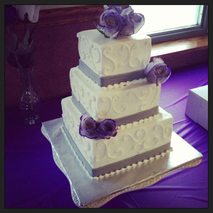 Purple And Grey Wedding Cakes  16 best images about Purple & Gray wedding on Pinterest