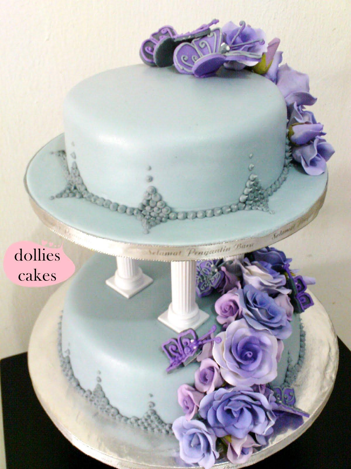 Purple And Grey Wedding Cakes  dollies cakes purple grey wedding cakes