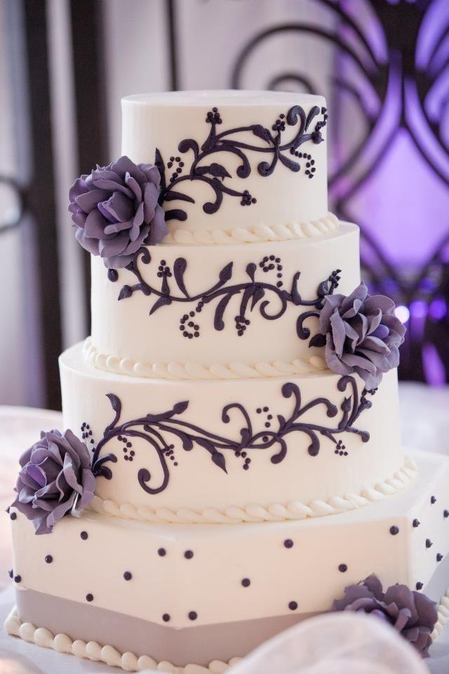 Purple And Grey Wedding Cakes  Wedding Cakes Wedding Cake Ideas Weddbook