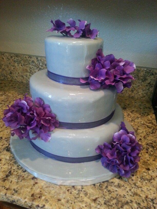 Purple And Grey Wedding Cakes  Pin Gray And Purple Weddings Nautical Wedding Cake