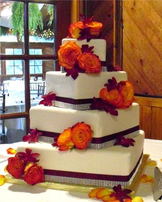 Purple And Orange Wedding Cakes  Fall Wedding – We Do Dream Weddings