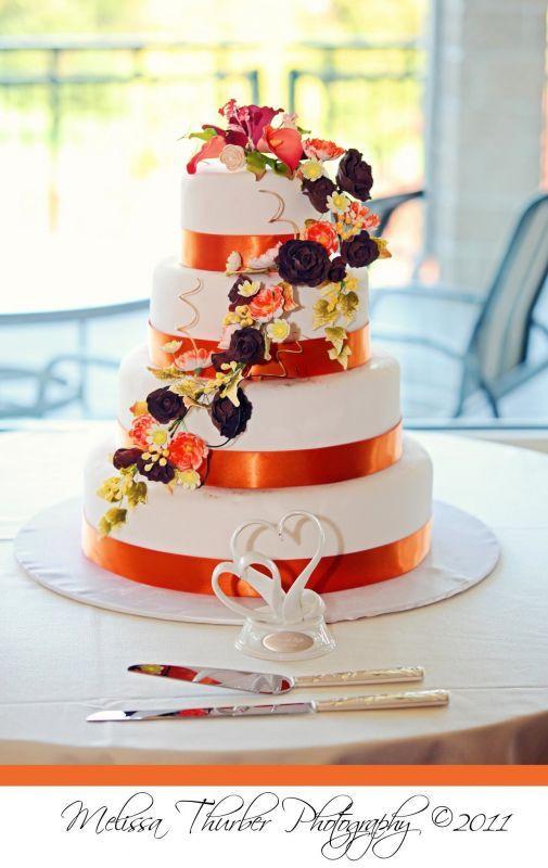 Purple And Orange Wedding Cakes  11 best wedding cakes images on Pinterest
