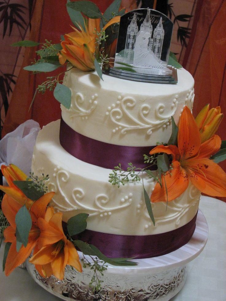 Purple And Orange Wedding Cakes  17 Best ideas about Orange Wedding Cakes on Pinterest