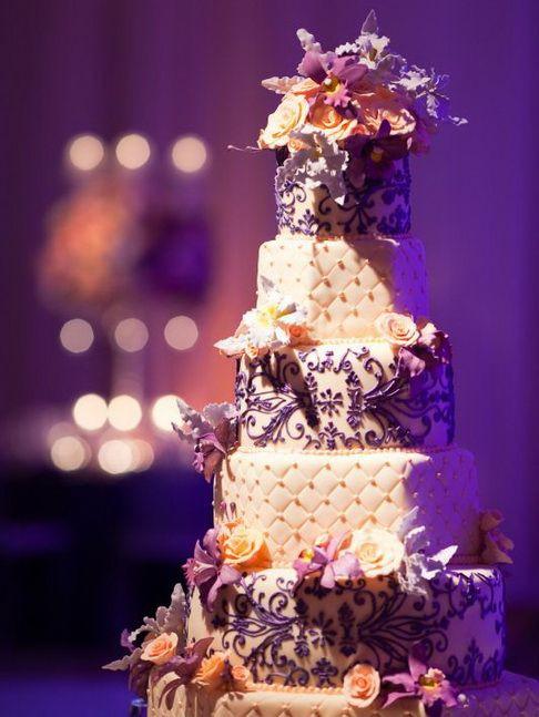 Purple And Orange Wedding Cakes  447 best images about Wedding orange purple and Gray on