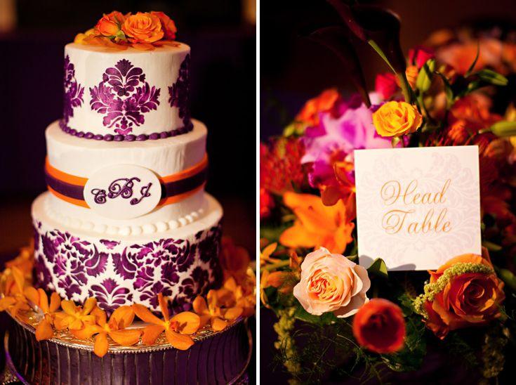 Purple And Orange Wedding Cakes  180 best Orange & Purple Wedding Inspiration images on