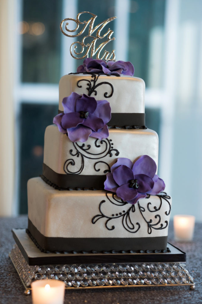 Purple And Silver Wedding Cakes  Nashville Sweets