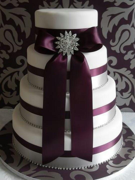 Purple And Silver Wedding Cakes  Purple Wedding Cake Ideas Wedding and Bridal Inspiration