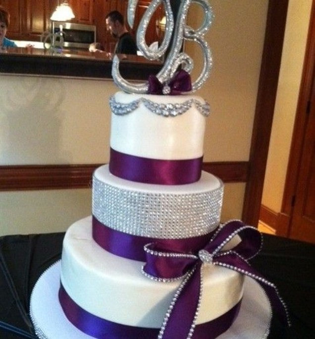 Purple And Silver Wedding Cakes  83 Silver And Purple Wedding Cakes VIs Wed