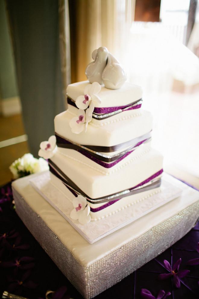 Purple And Silver Wedding Cakes  San Diego Wedding