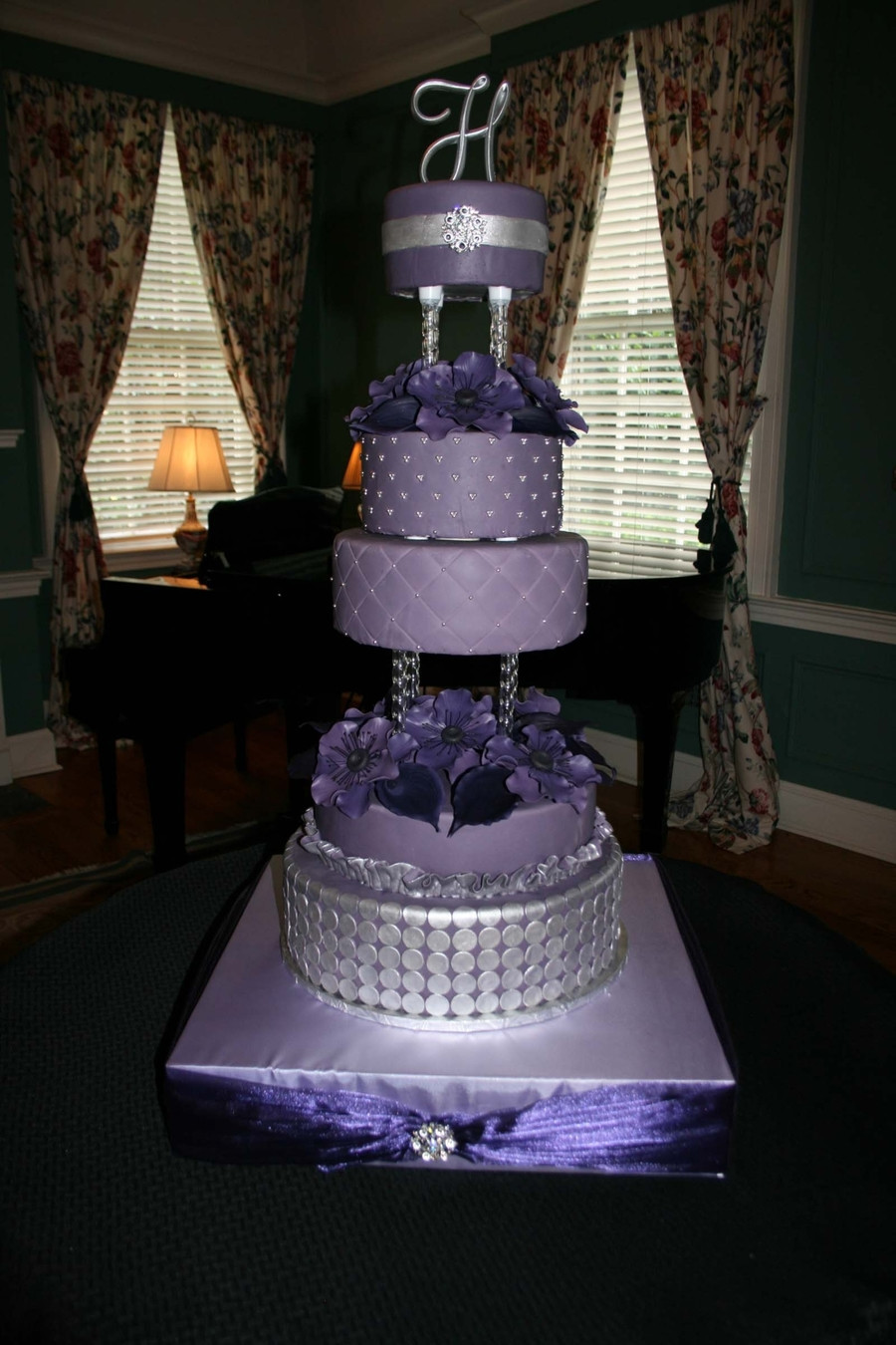 Purple And Silver Wedding Cakes  Purple Wedding Cake CakeCentral