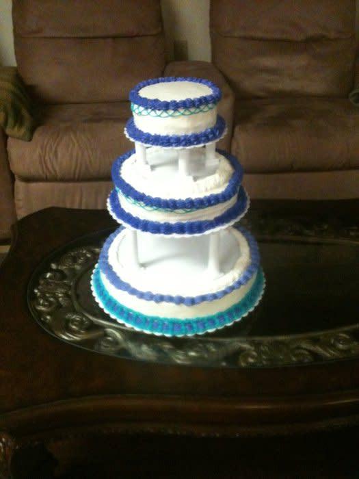 Purple And Teal Wedding Cakes  Teal and Purple Wedding Cake Cake by Teresa James