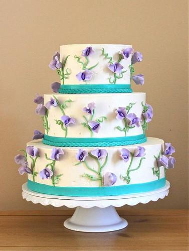 Purple And Teal Wedding Cakes  Sweet Pea Wedding Cake