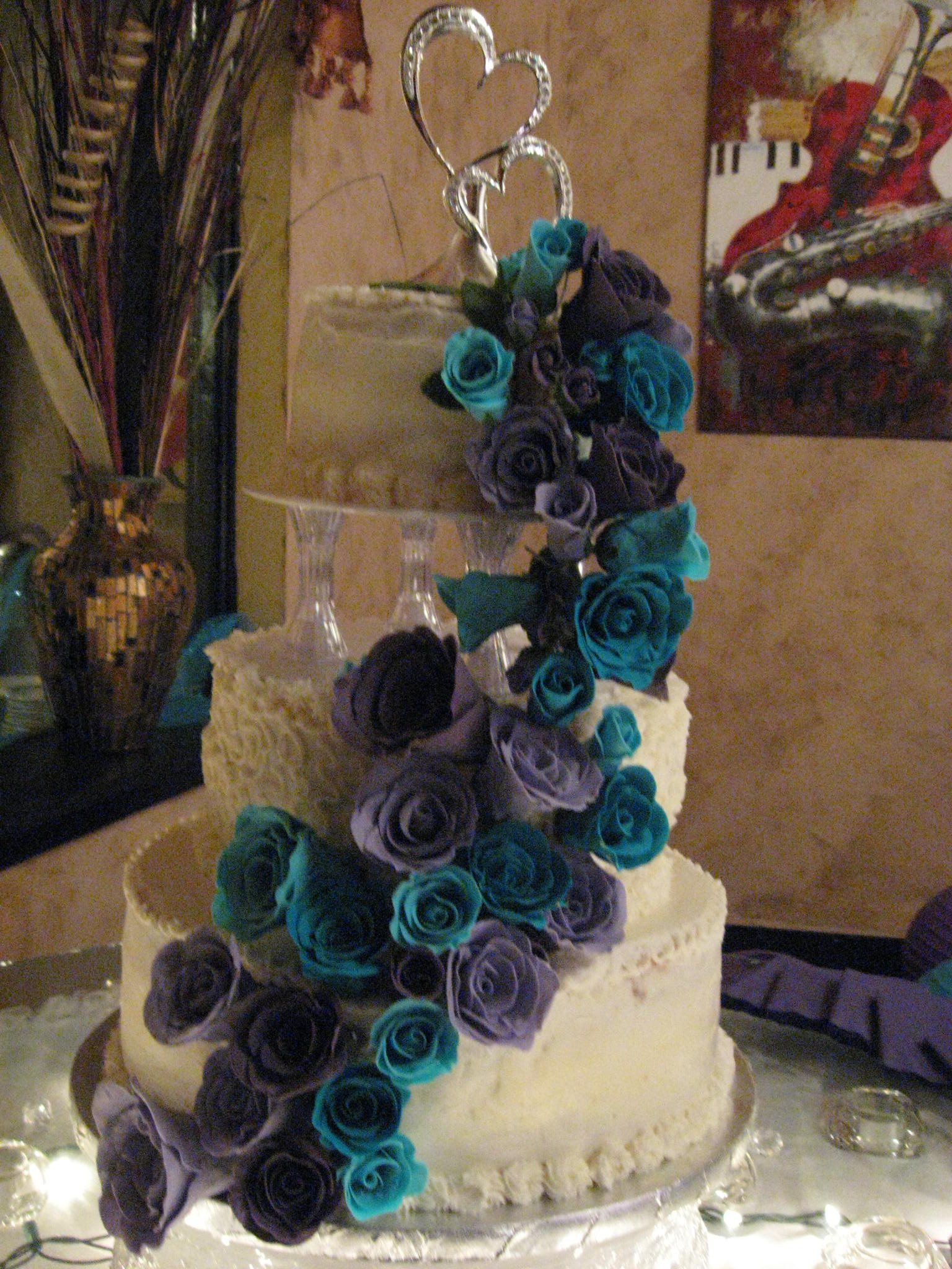 Purple And Teal Wedding Cakes  Wedding Cakes