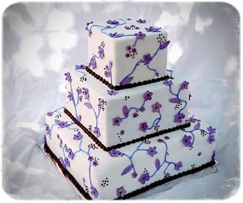Purple And White Wedding Cakes  Purple Wedding Cakes Best of Cake