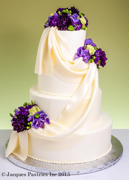Purple And Yellow Wedding Cake  15 Purple Wedding Cakes Ideas