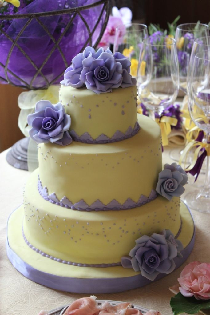 Purple And Yellow Wedding Cake  Purple and yellow wedding cakes idea in 2017