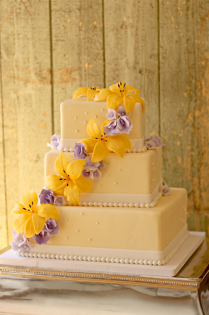 Purple And Yellow Wedding Cakes  Purple and yellow wedding cakes idea in 2017