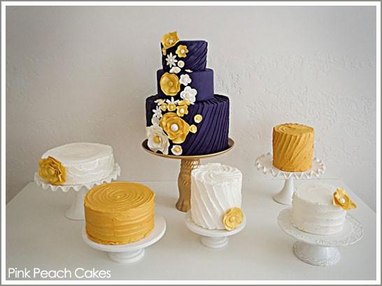Purple And Yellow Wedding Cakes  Fab Cake Plum & Golden Yellow