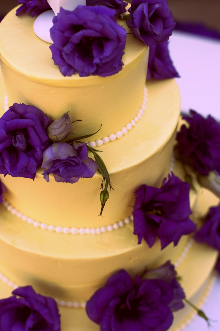 Purple And Yellow Wedding Cakes  17 Best images about Purple & yellow on Pinterest