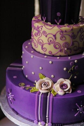 Purple Wedding Cakes Ideas  Southern Blue Celebrations Purple Wedding Cake Ideas