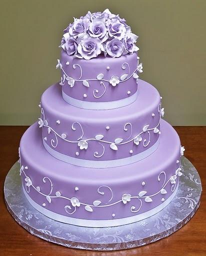 Purple Wedding Cakes Pictures  Wedding Cakes Purple Wedding Cakes