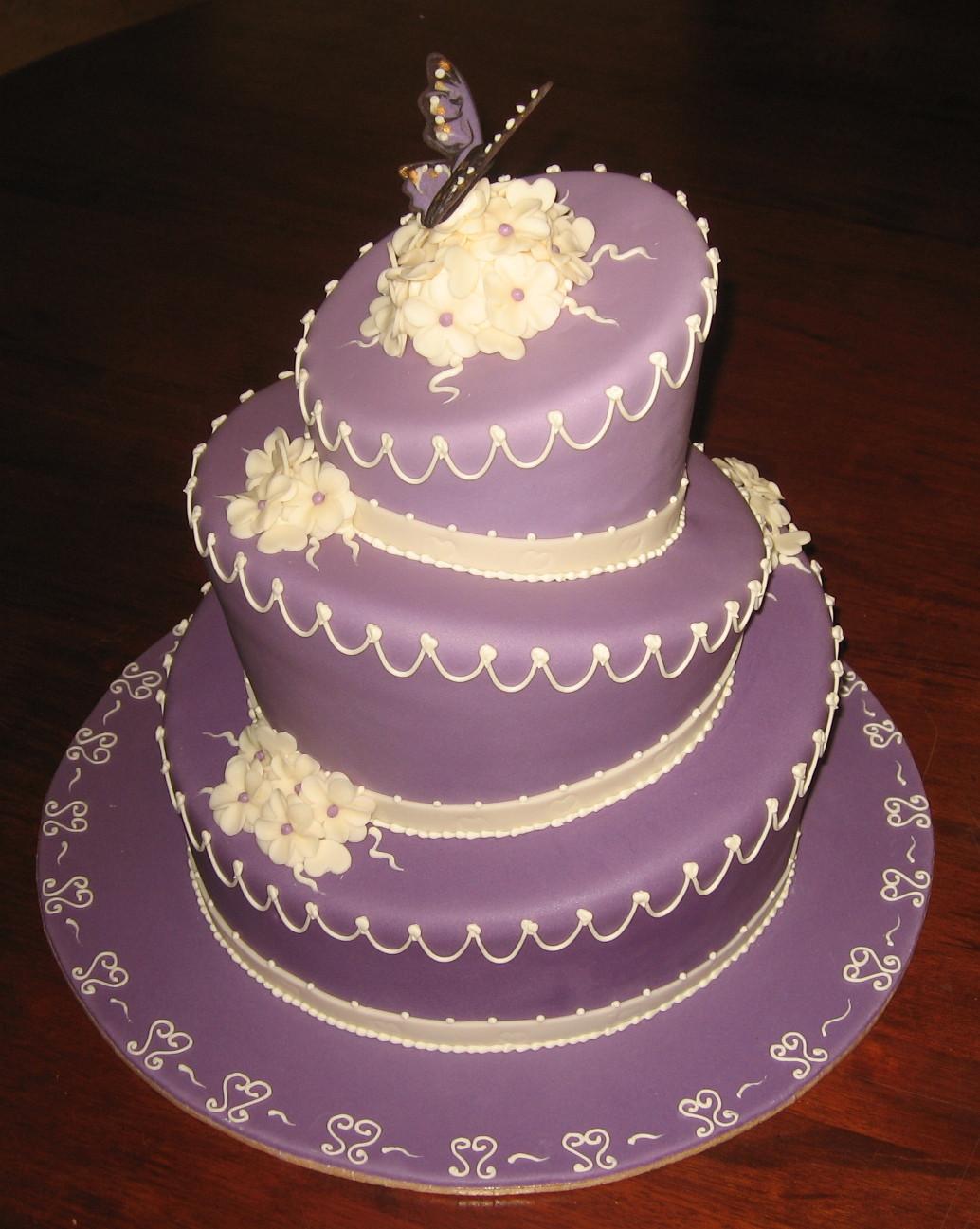 Purple Wedding Cakes Pictures  Let Them Eat Cake Purple Wedding Cake