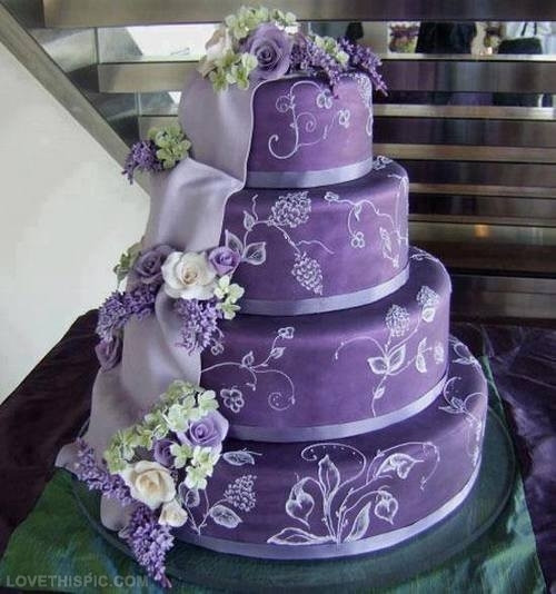 Purple Wedding Cakes Pictures  Purple Wedding Cake s and for