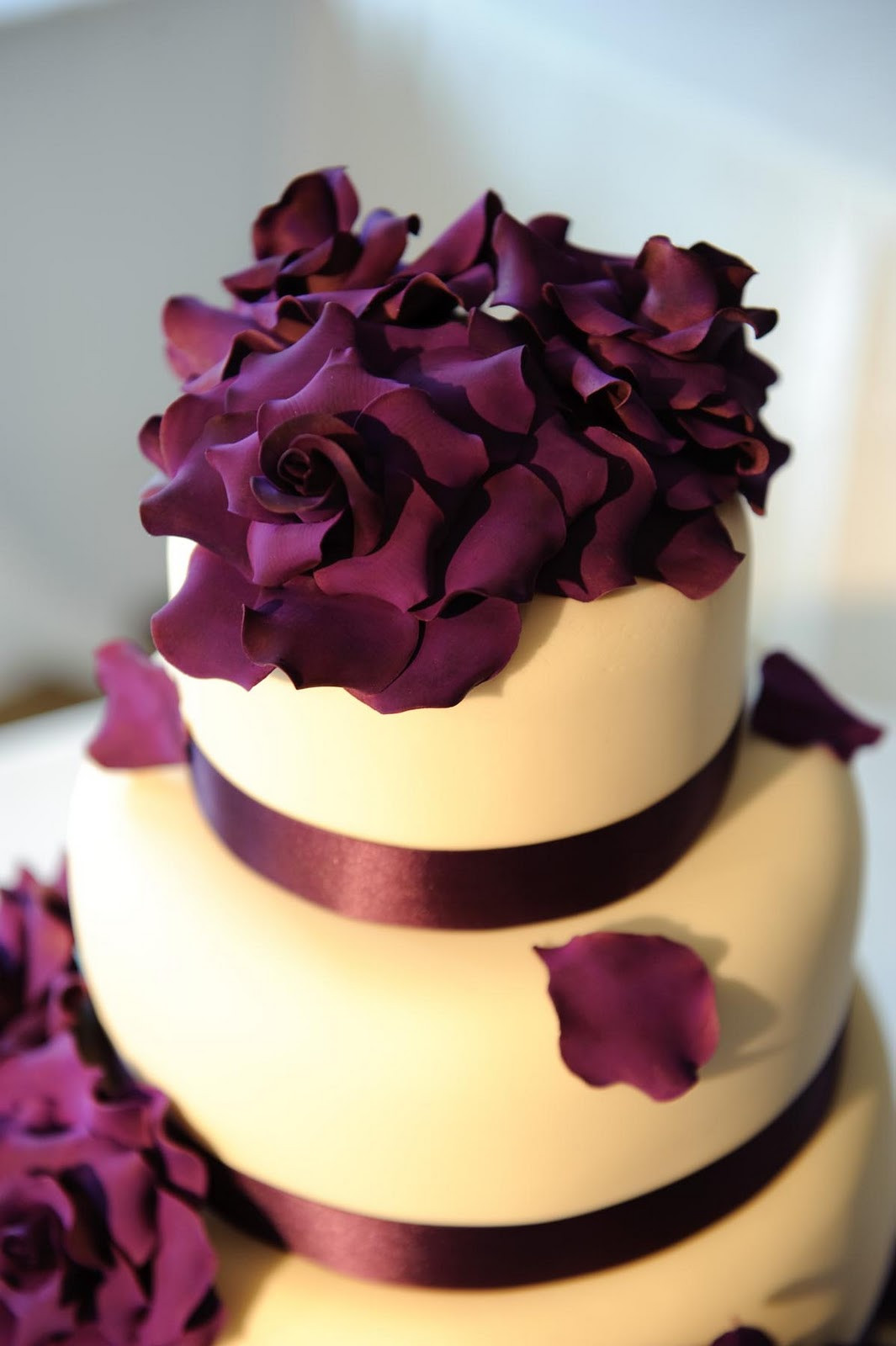 Purple Wedding Cakes Pictures  Purple Wedding Inspiration Themes Designer Chair Covers