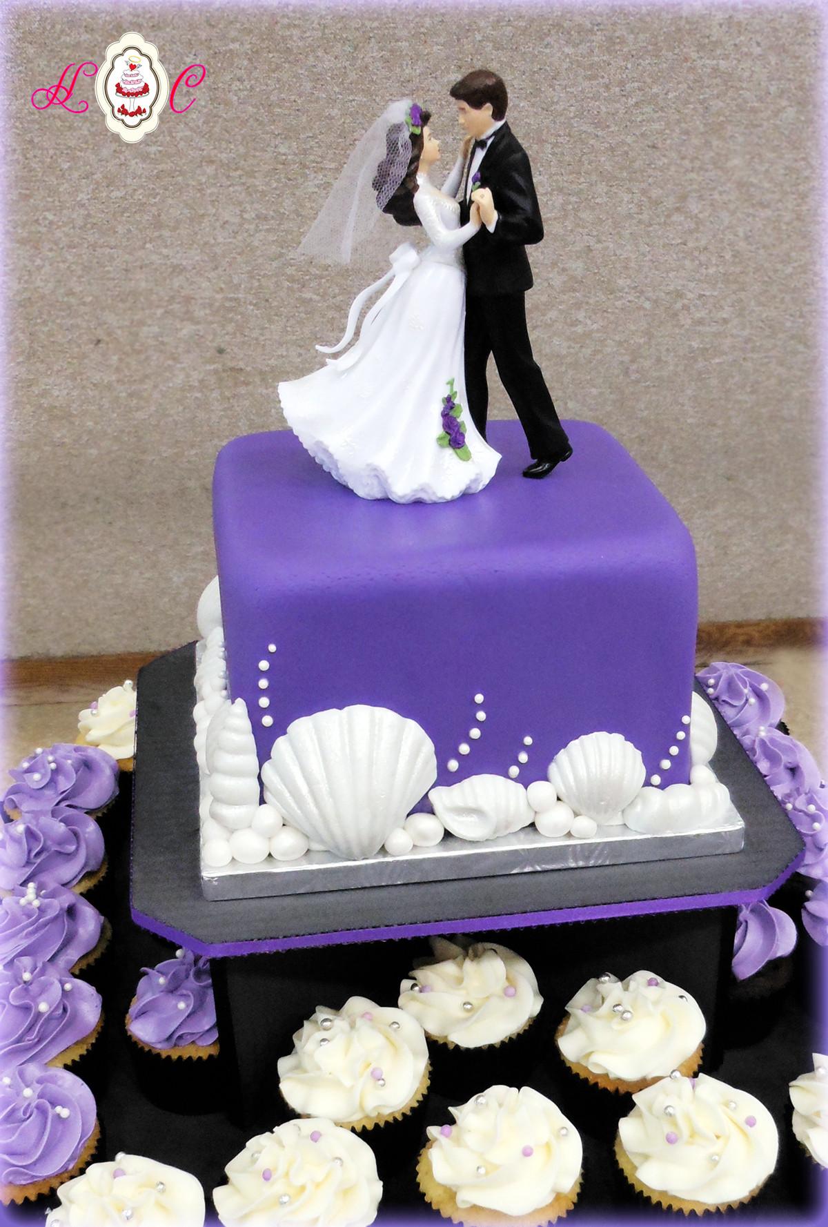Purple Wedding Cakes Pictures  Wedding Cakes in Marietta Parkersburg & More Heavenly