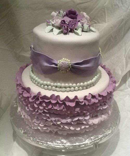 Purple Wedding Cakes With Prices  Purple wedding cake ideas idea in 2017