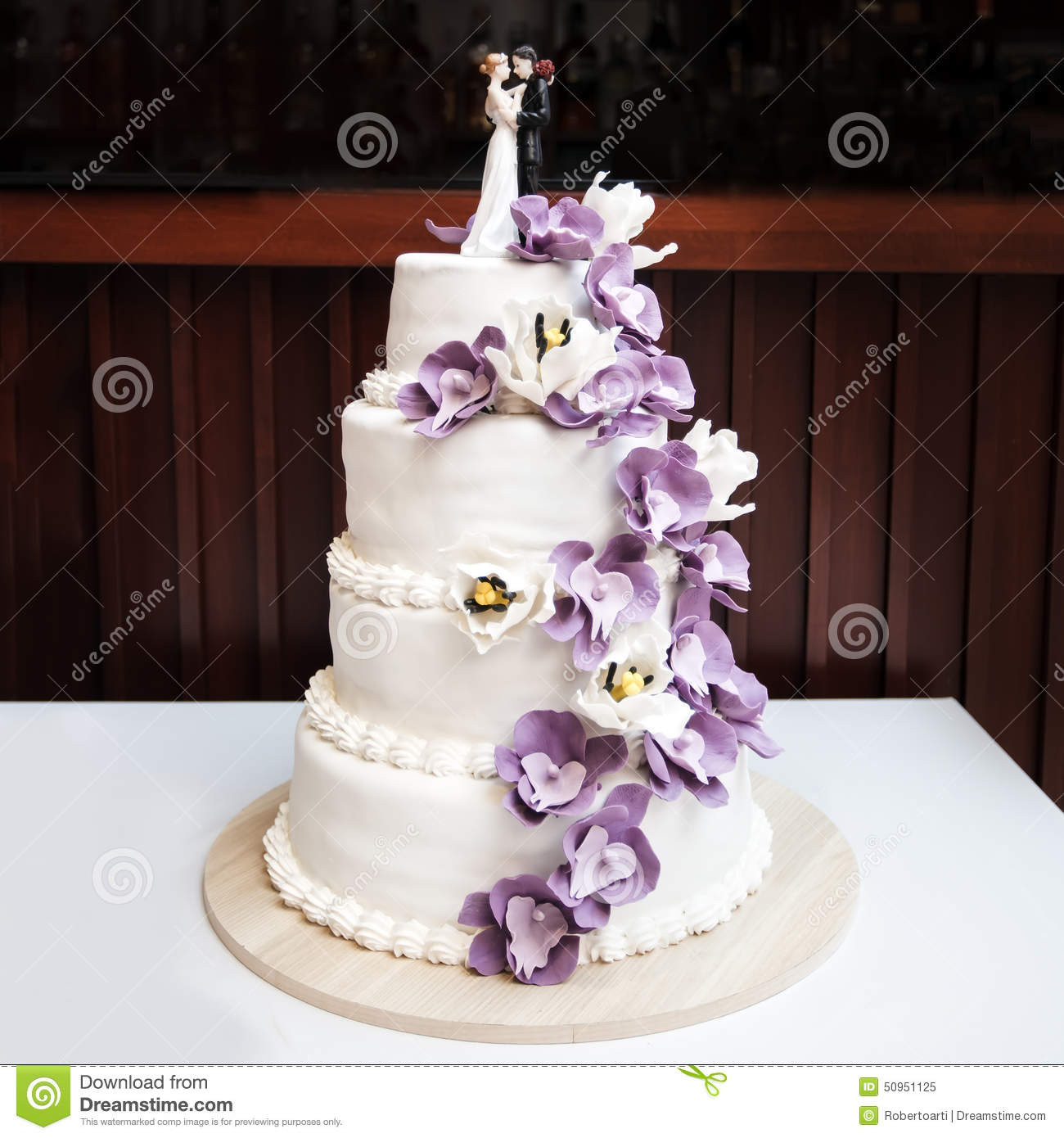 Purple Wedding Cakes With Prices  Wedding cake stock image Image of table reception party