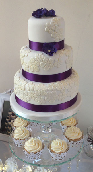 Purple Wedding Cakes With Prices  Plumtree Bakehouse Cakes for all Occasions