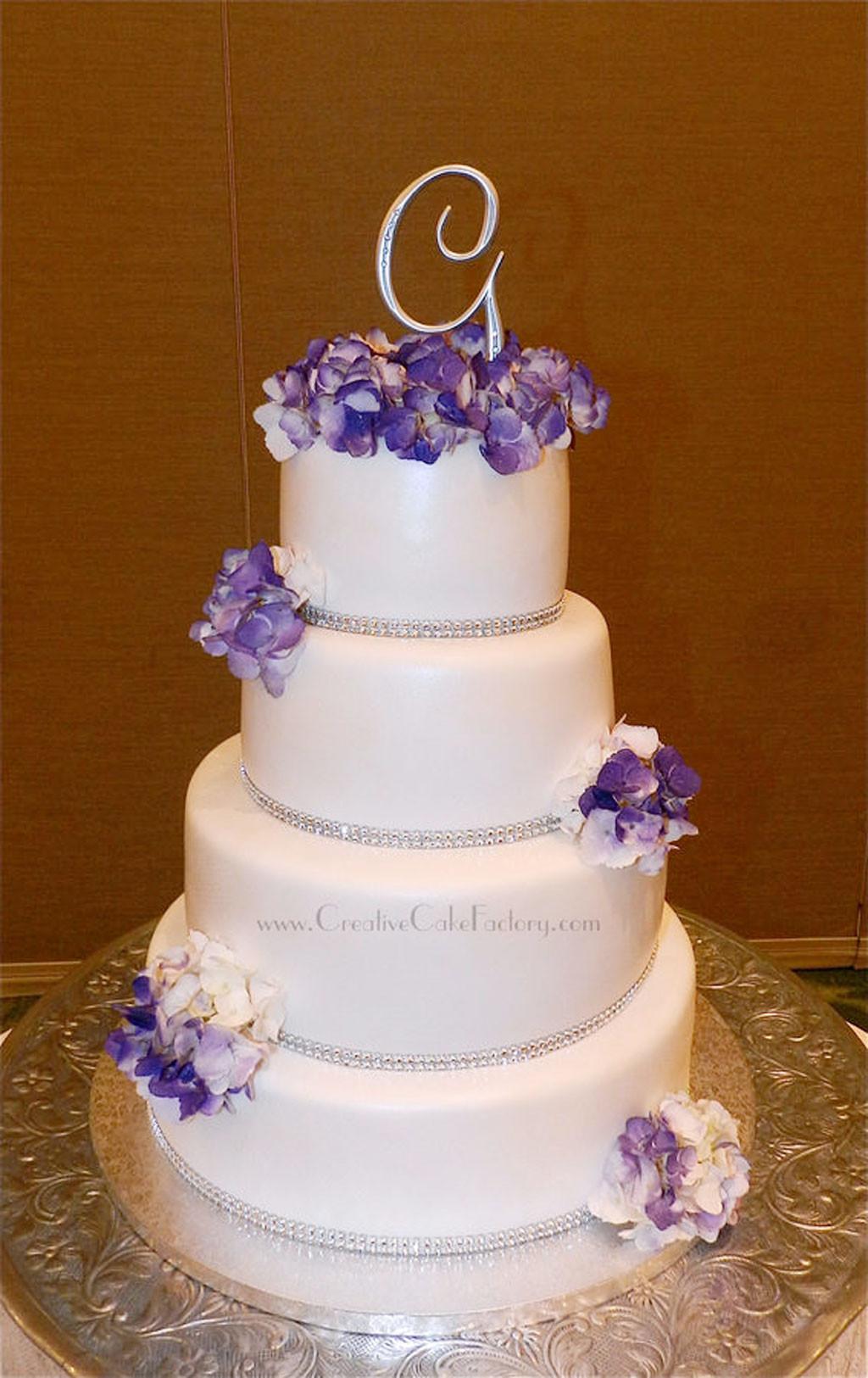 Purple Wedding Cakes With Prices  Purple Hydrangea Wedding Cake Wedding Cake Cake Ideas by