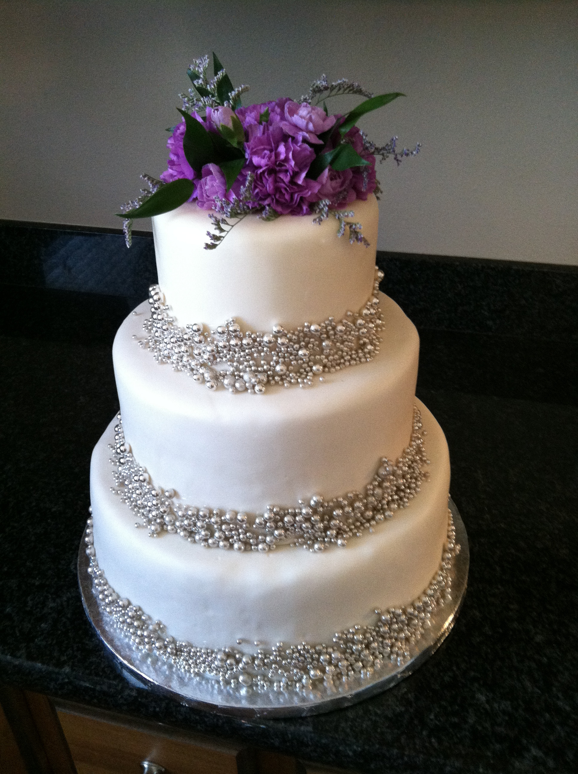 Purple Wedding Cakes With Prices  Purple silver wedding cake idea in 2017