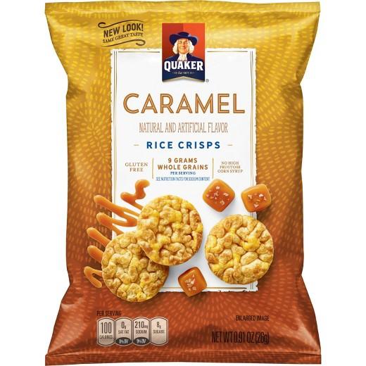 Quaker Popped Rice Snacks Healthy  Quaker Popped Rice Crisps Caramel Corn 60 ct Tar