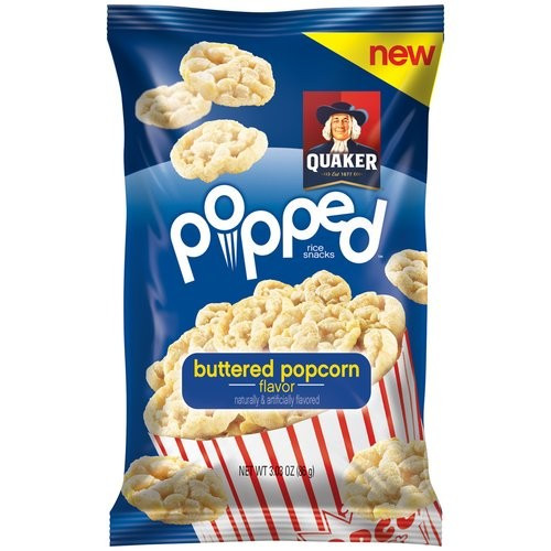 Quaker Popped Rice Snacks Healthy  Quaker Popped Rice Snacks Buttered Popcorn Pack of 12