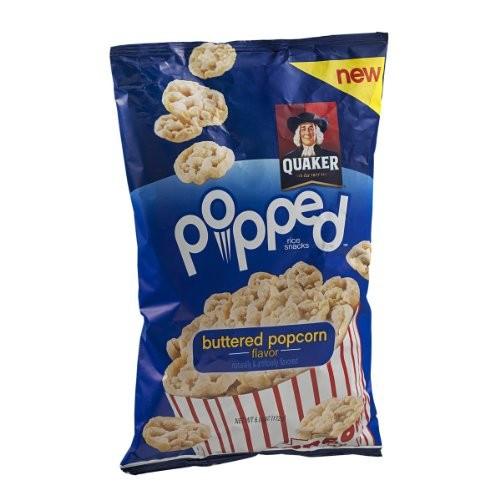 Quaker Popped Rice Snacks Healthy  Quaker Popped Rice Snacks Buttered Popcorn 6 oz 6 pack