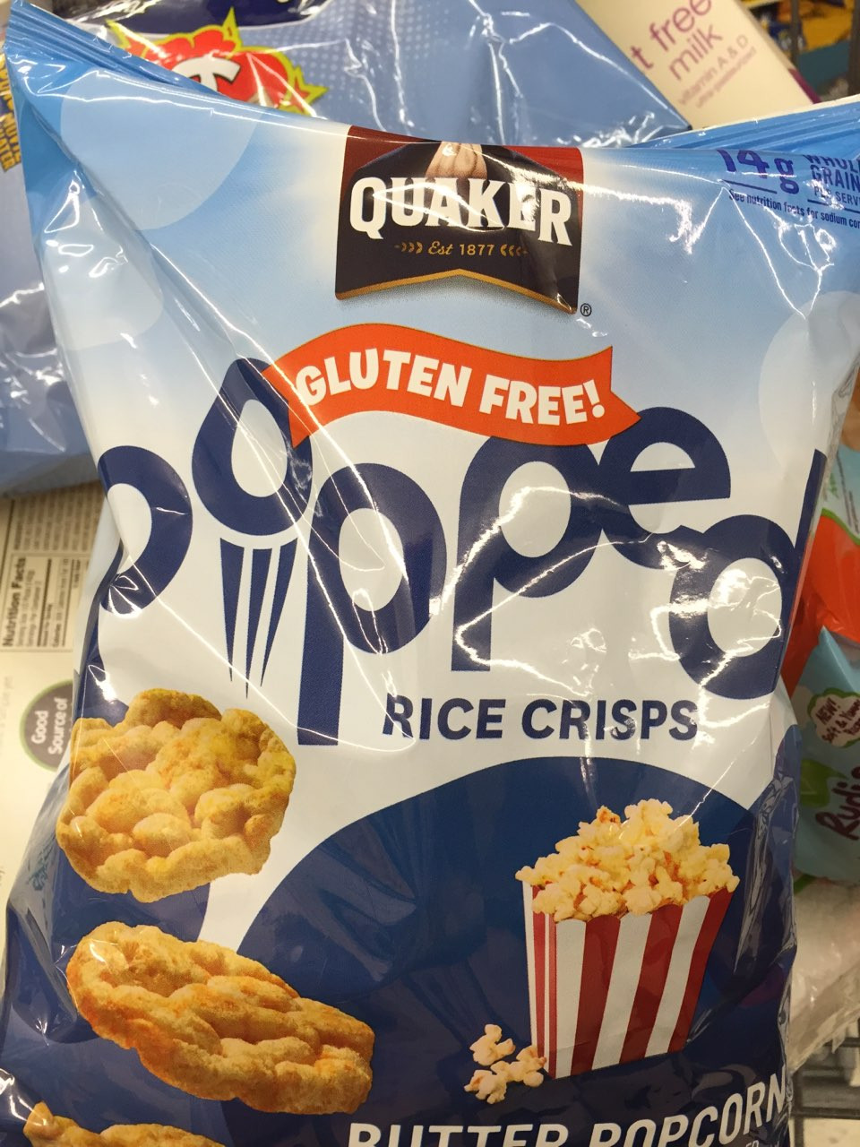 Quaker Popped Rice Snacks Healthy  Quaker Popped Rice Snacks Buttered Popcorn Flavor
